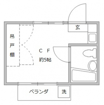 ヴェール亜矢202平面図