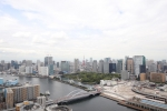 住戸からは東京タワー、浜離宮、墨田川を望みます。