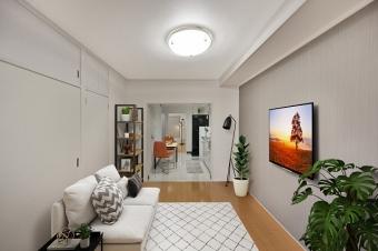 約6帖洋室(※家具レイアウトはイメージにつき、売買対象には含まれません。)
